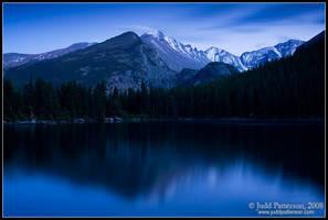 Longs Peak in Blue by juddpatterson