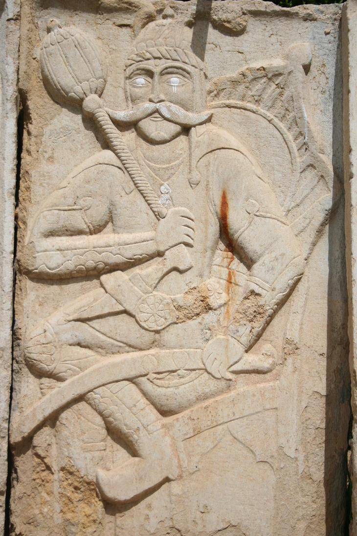 Wall figure relief Persepolis Iran by MirjamPenning