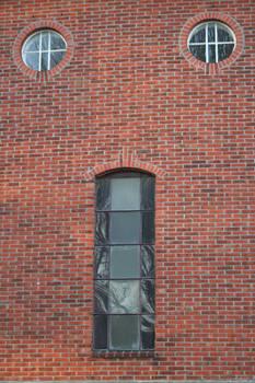 Windows in Redbricked Wall