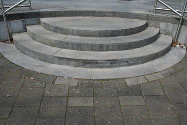Round Cement Steps