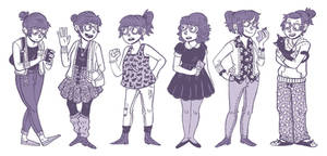 Outfit Diary Sketches