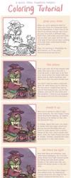 Coloring Tutorial by kaykedrawsthings