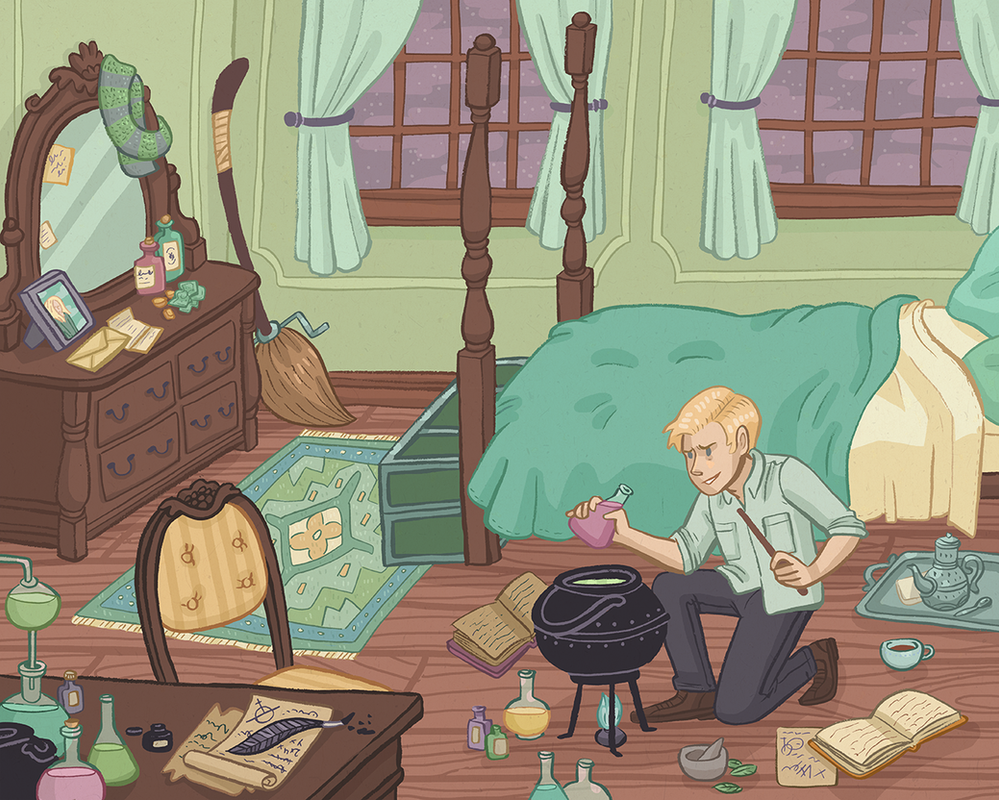 Draco's Room by Cup-Kayke