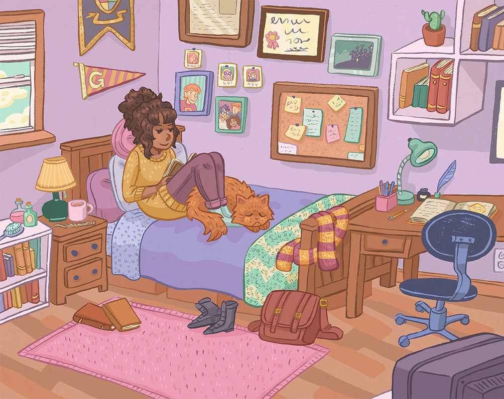 Hermione's Room by Cup-Kayke