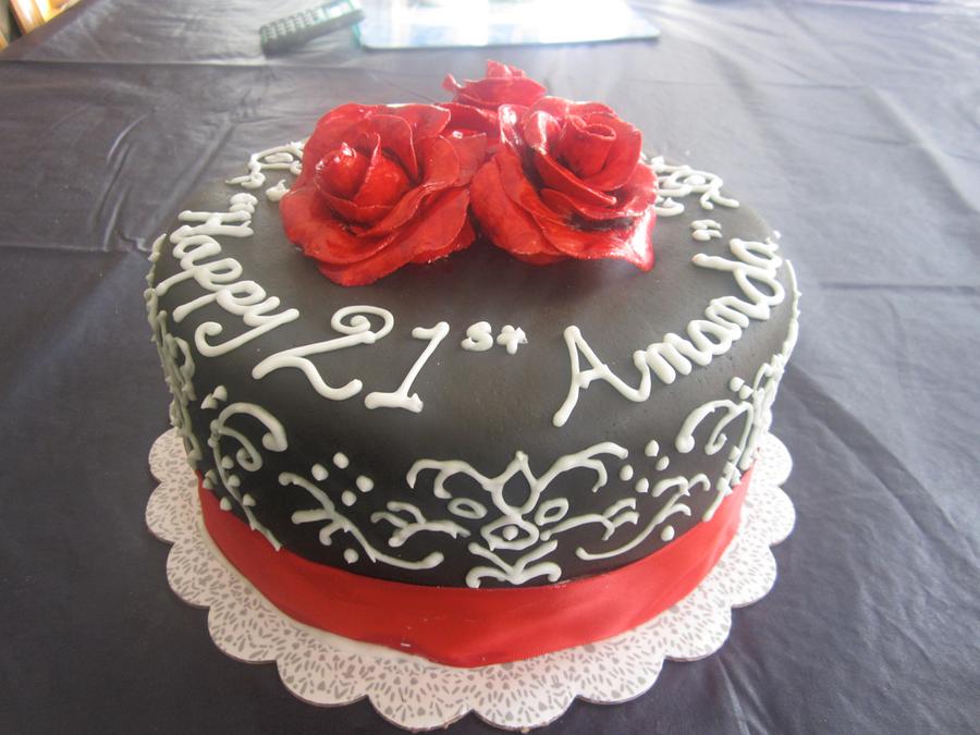 21st Birthday Cake - Roses by noisekisses on DeviantArt