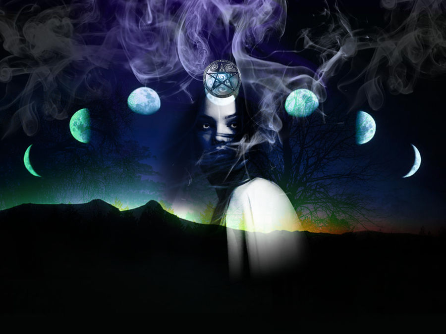 triple goddess by Sicut-Felem