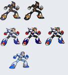 Megaman X armors MVC by RamzaNeko