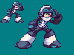 Mighty No.9 Sprite - Another Shading by RamzaNeko