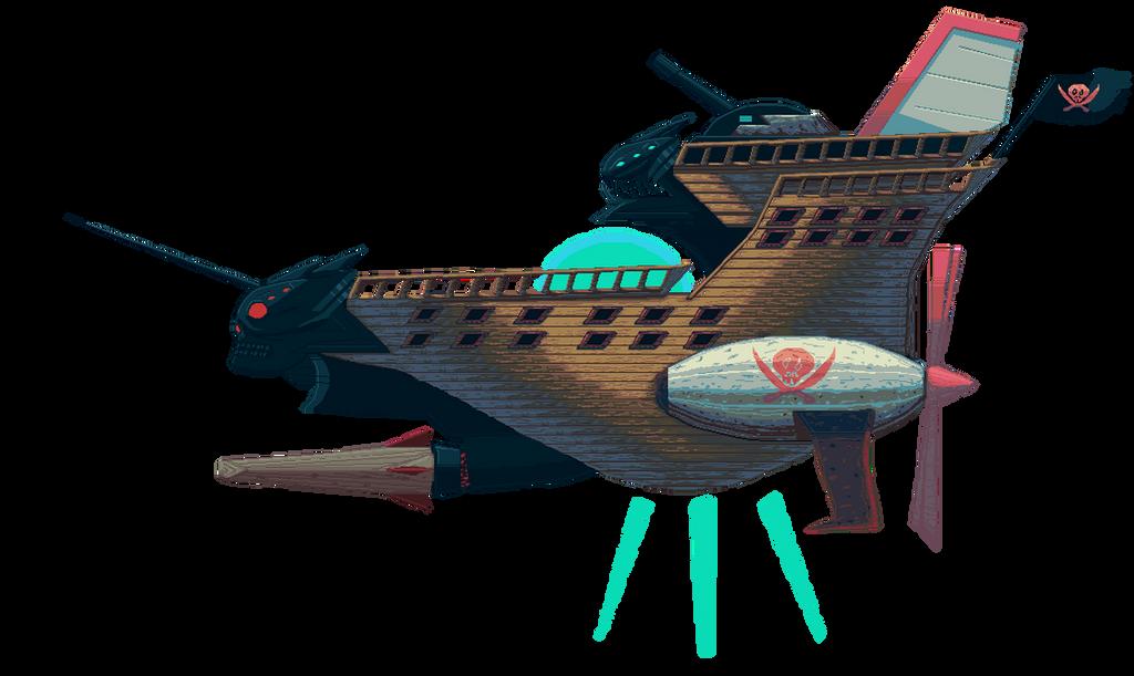 The Red Dasher - Skyedge Trinity Dash's Ship by RamzaNeko