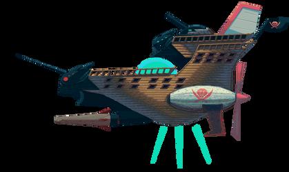 The Red Dasher - Skyedge Trinity Dash's Ship