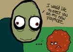 Meatwad meets Salad Fingers