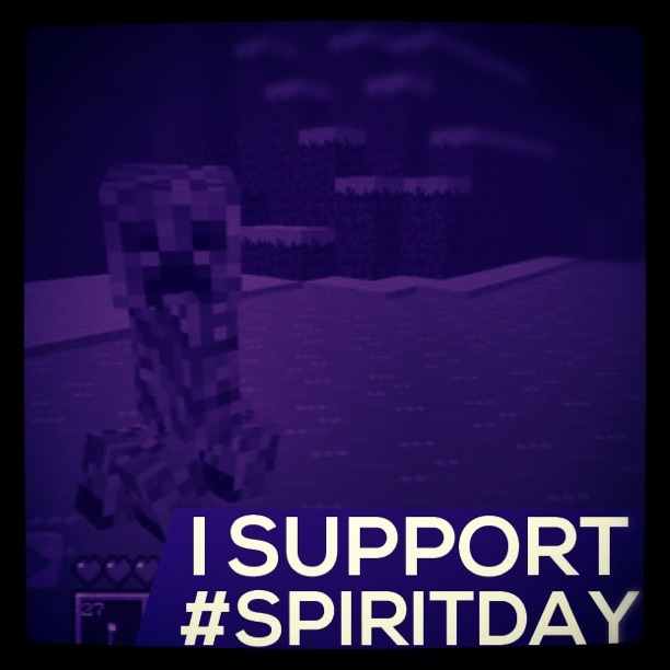Creeper spiritday support by Fallnangel7