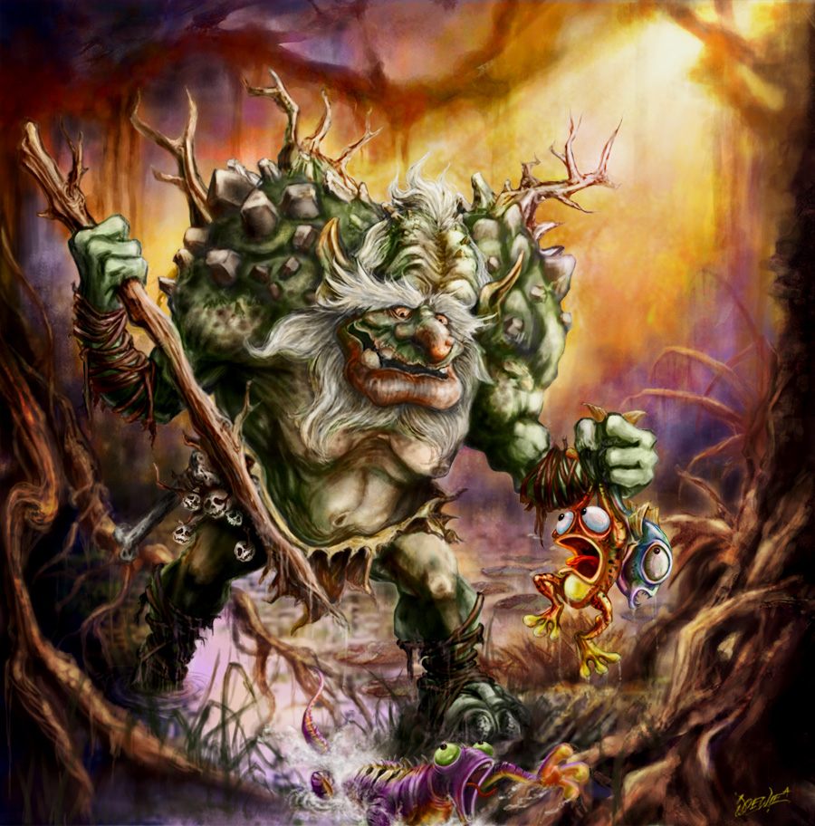 swamp troll by loztvampir3