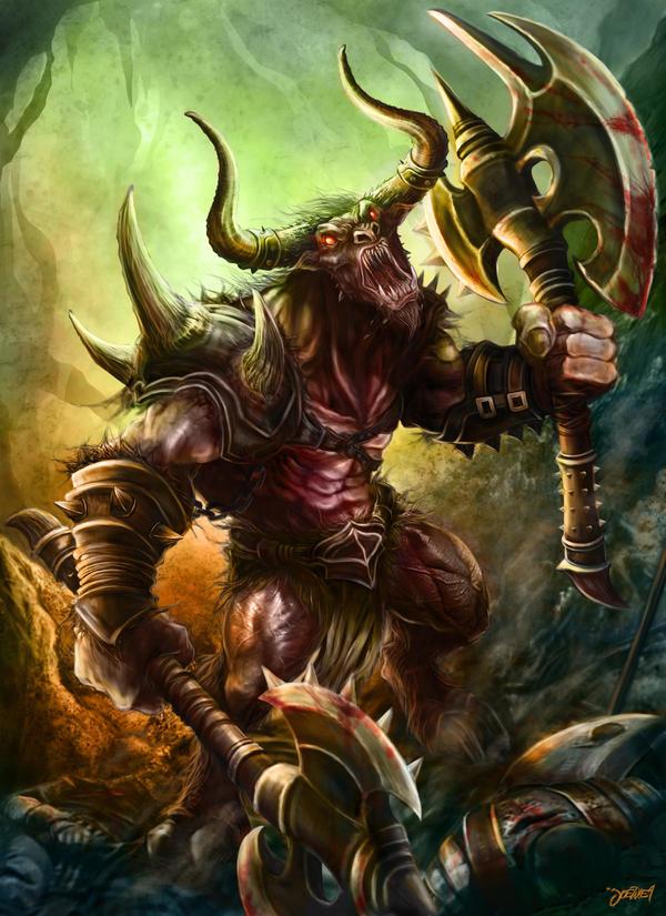 Wrath of the Minotaur by loztvampir3