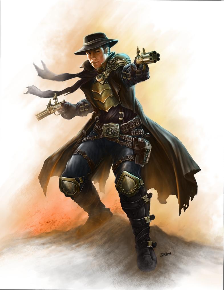 Steampunk gunslinger by loztvampir3 on deviantart - Gunfighter wallpaper ...
