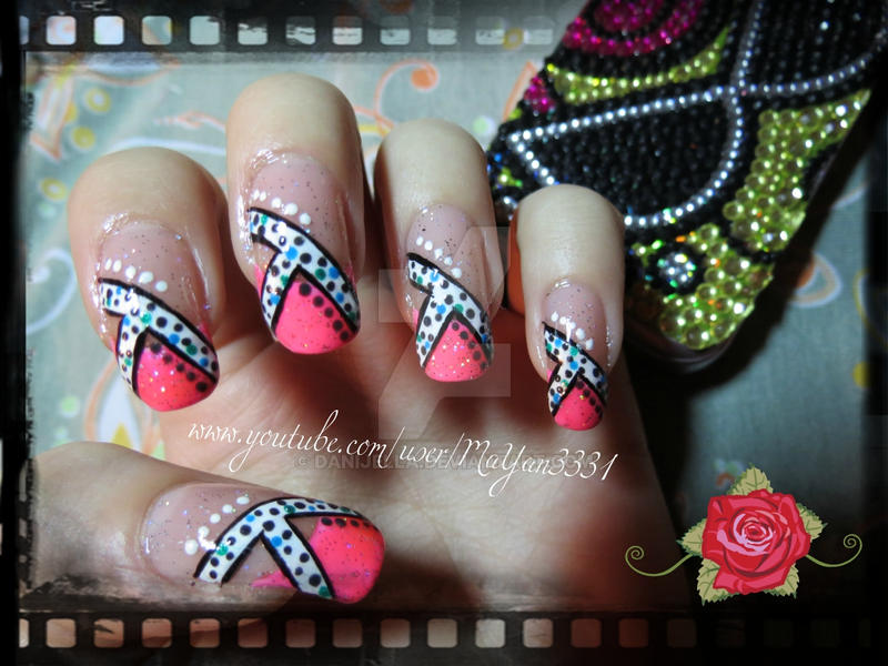 Girly Pink Manicure/Inspired by LOVE4NAILS by Danijella on DeviantArt