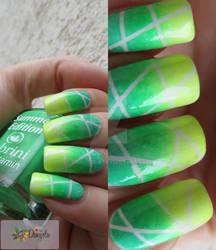 Summer Cocktail - neon nail design