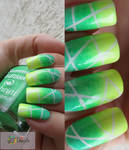 Summer Cocktail - neon nail design