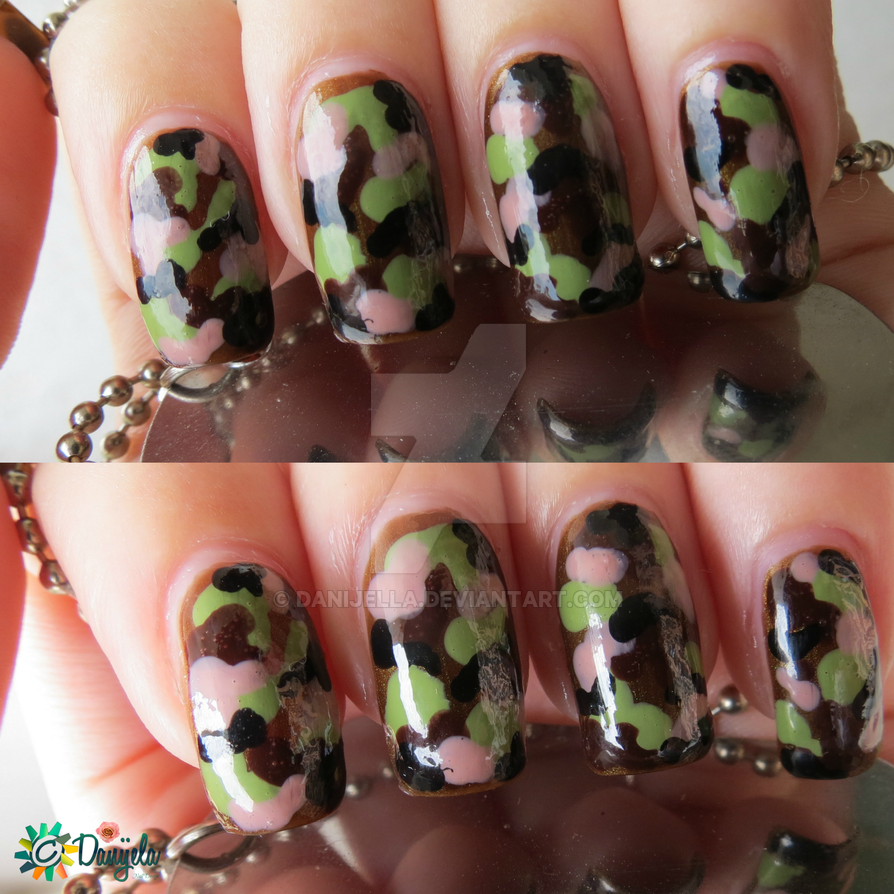 Girls In Army Camouflage Nail Art By Danijella On Deviantart