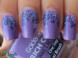 Lavender paint drips
