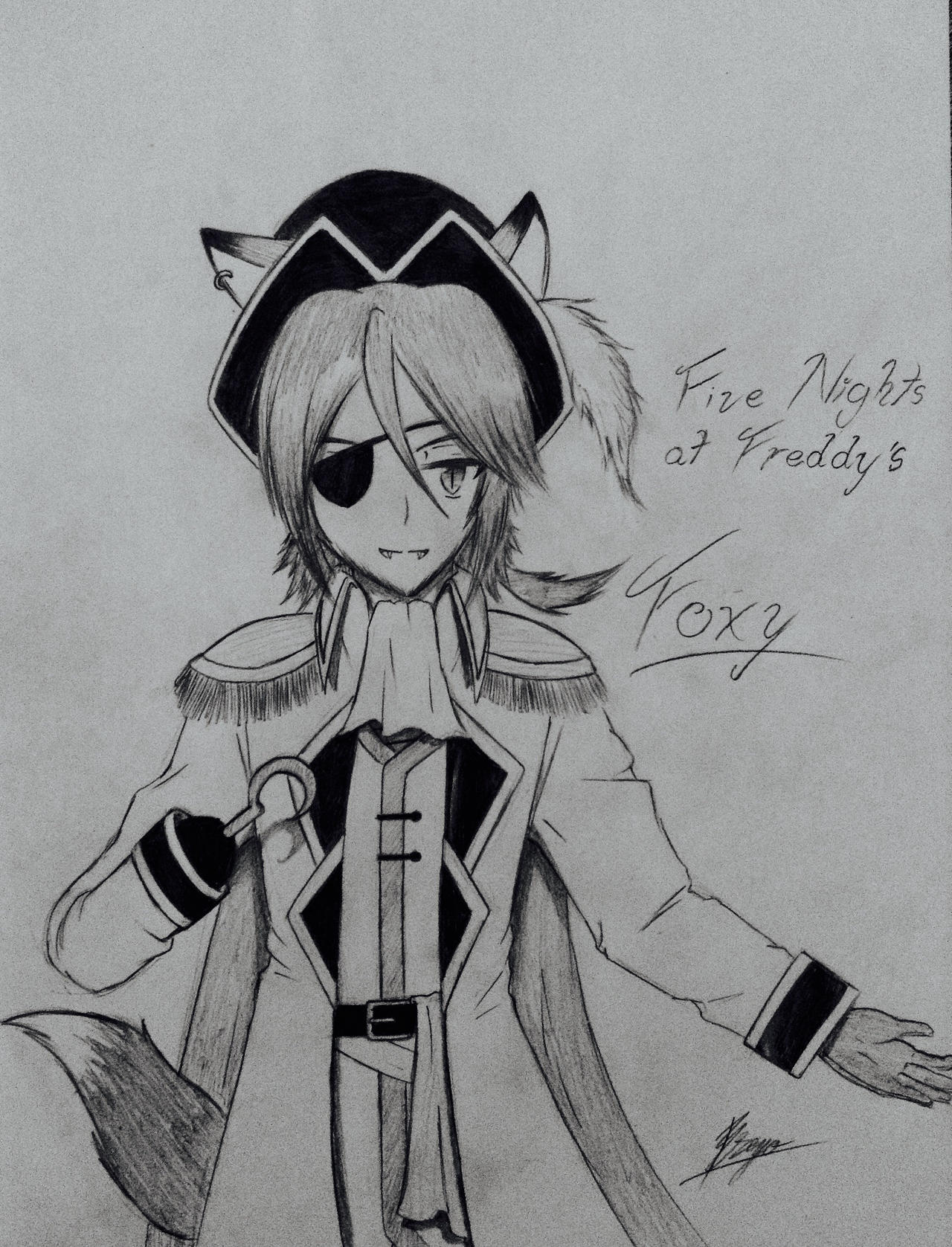 Five nights at freddy s foxy anime version by unitinfinity on