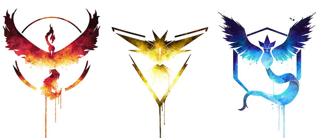 Pokemon Go Team Logos By AlexAasen On DeviantArt