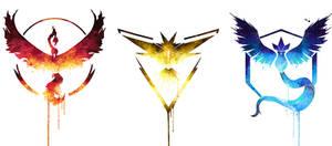 Pokemon go team logos