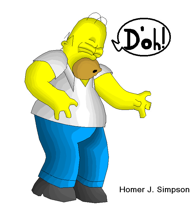 Homer J. Simpson by Bustexal