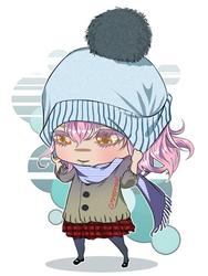 Winter School Uniform Chibi by cmaemon