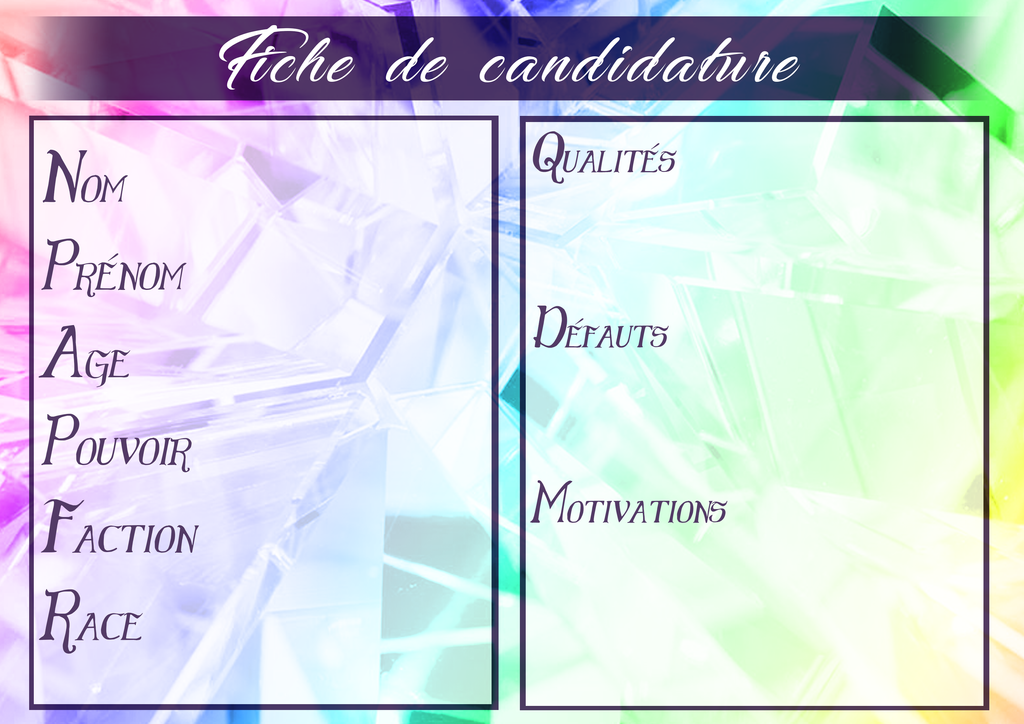 [BF] Elections - Fiche de candidature by Niranei