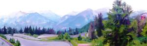 Landscape study: Morning summer at Risoul