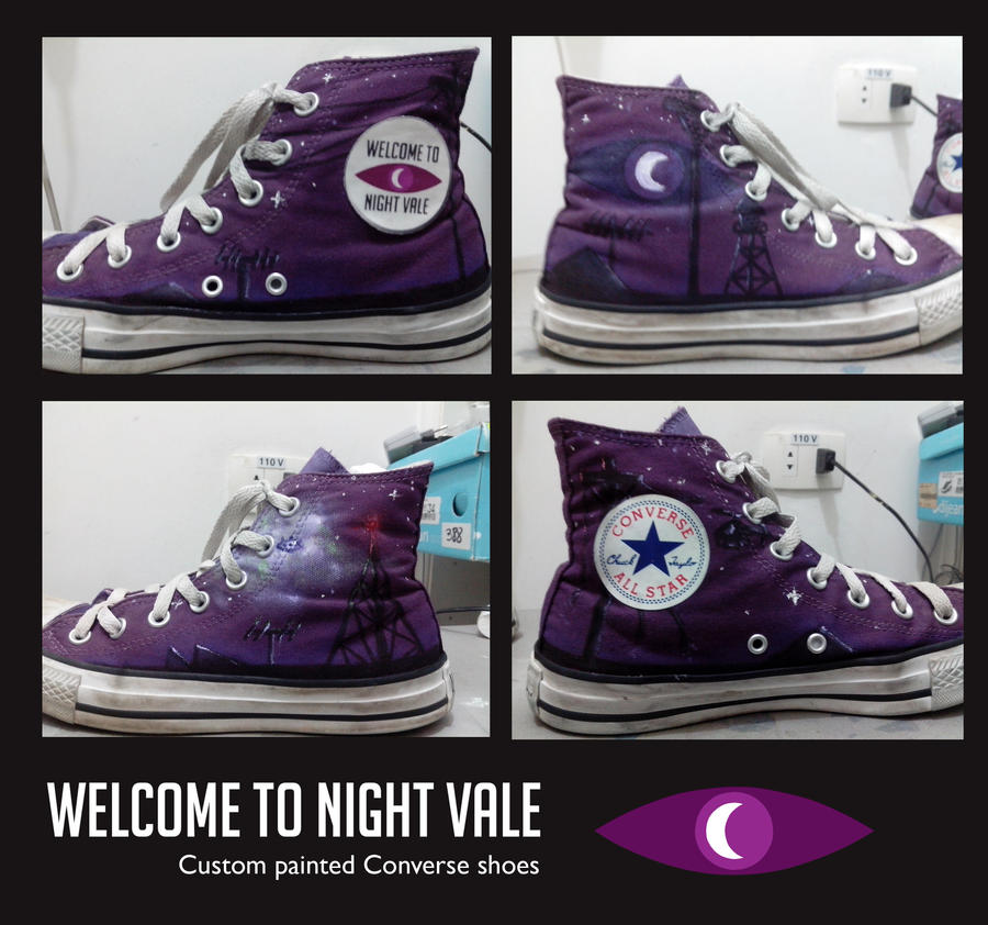 Night Vale Converse Shoes [custom painted]