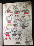 Cuphead Sketches by jakelsm