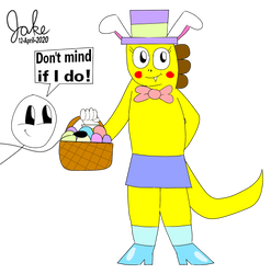Tappy the Easter Dino