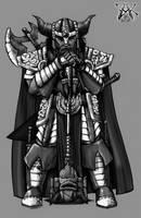 Armored Dwarf Warrior by LazarusReturns
