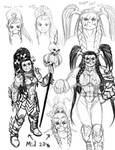 Female Orc Warrior - WoW