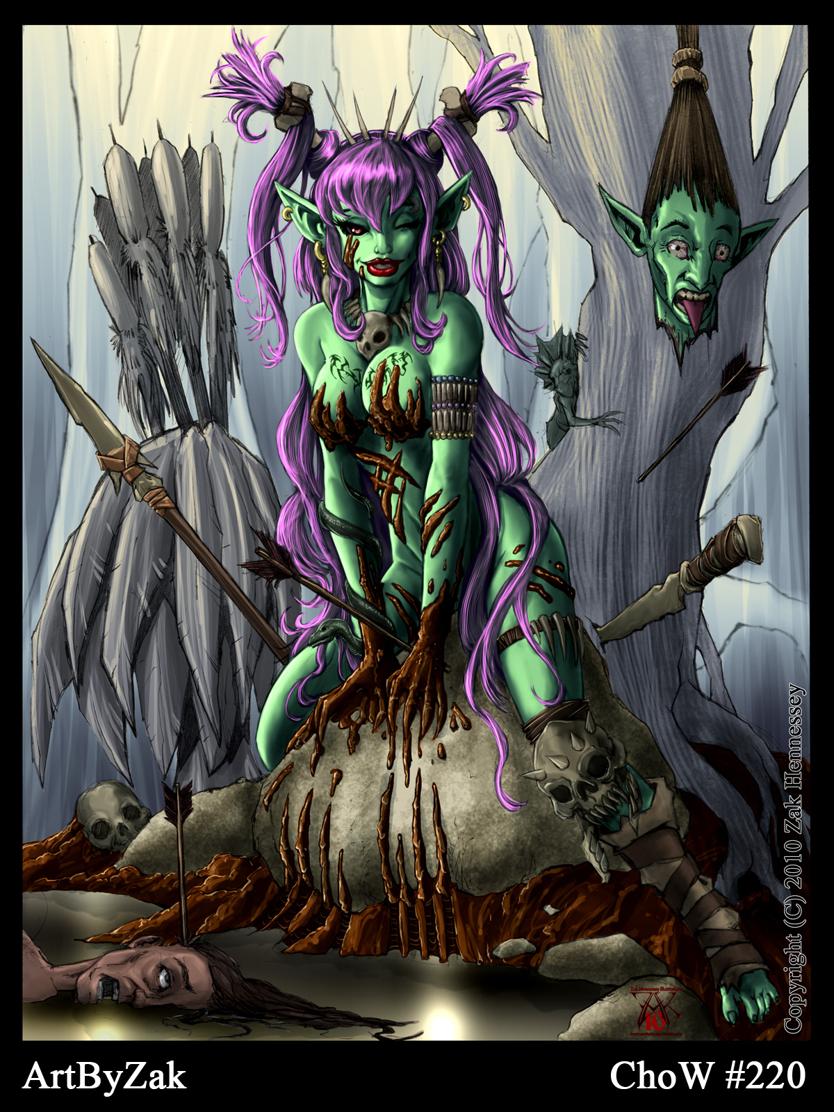 Goblin Gal Pin-up Full Color by LazarusReturns