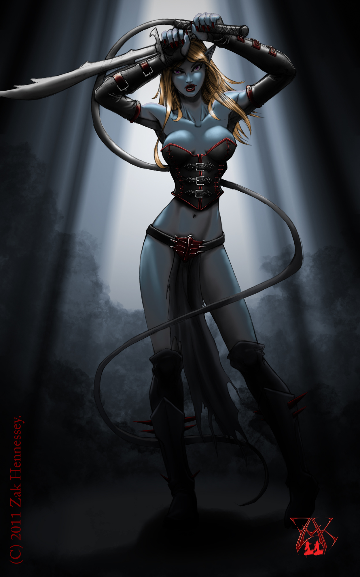 Typical Drow Female by LazarusReturns