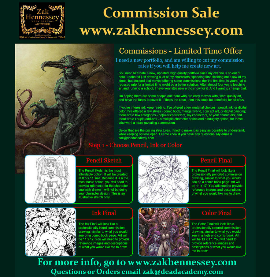 Commissions! Short Ad by LazarusReturns