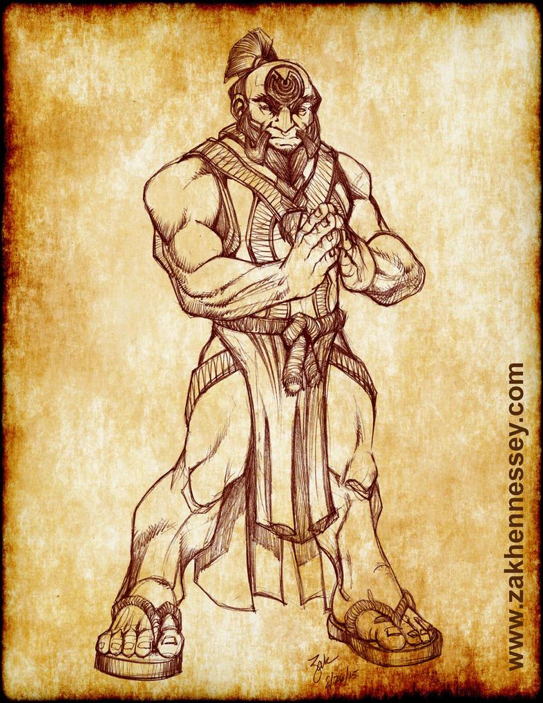 Dwarven Monk RPG Commission by LazarusReturns