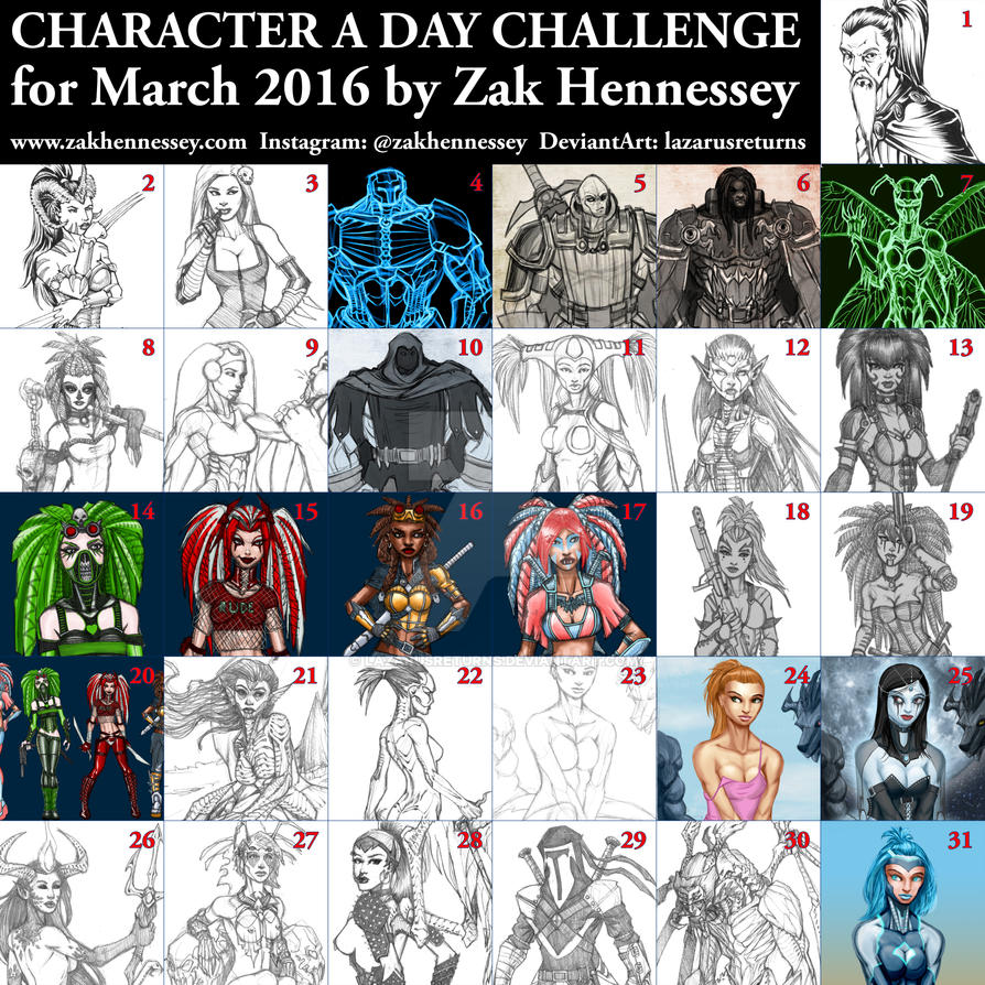 Character a Day Challenge - March 2016 by LazarusReturns