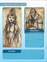 Magisters of Exarium - Nexakka and Heliandros by LazarusReturns