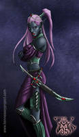 Drow Sorceress by LazarusReturns