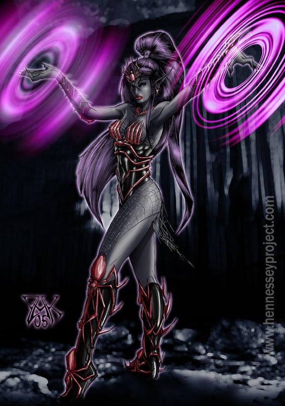 Эльфы          Female_drow_wizard_by_lazarusreturns