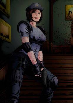 Jill Valentine - Resident Evil 1 Colored