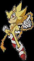 Super Sonic Lego Pixel Art!!