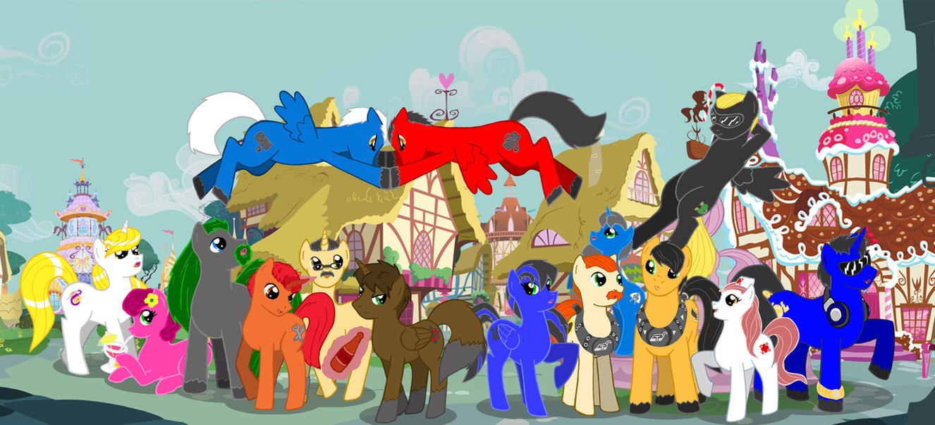 My Friends MLP style by TheDARKWOLF