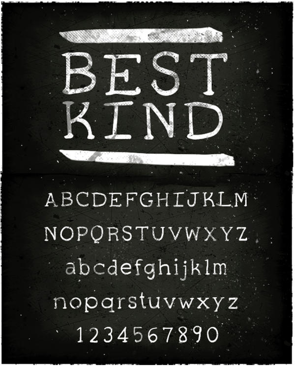 Best Kind Typeface Design by Lydia-distracted