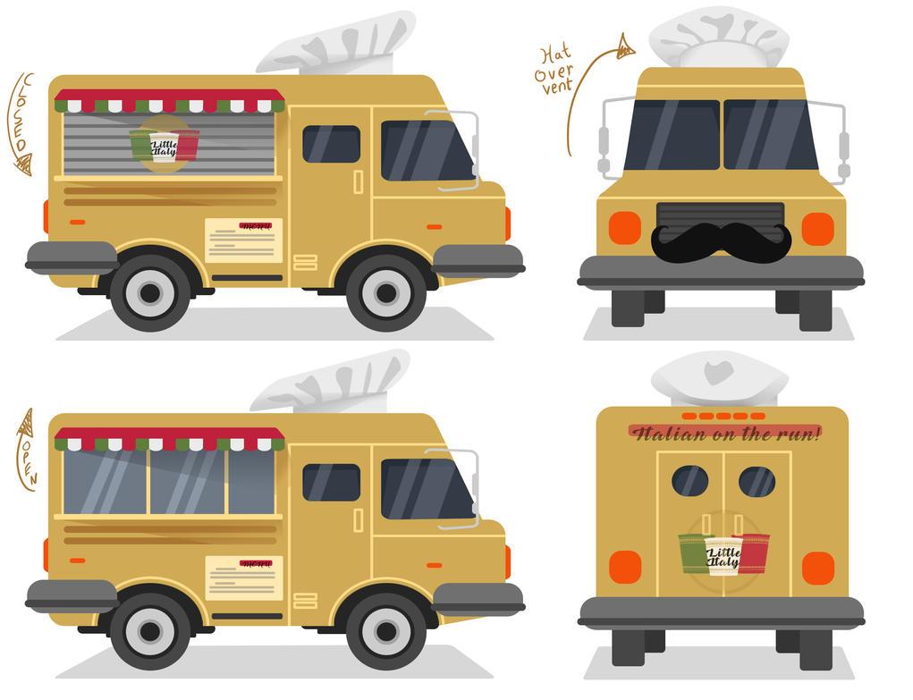 food truck concept by thedefectiveone on deviantart. Black Bedroom Furniture Sets. Home Design Ideas