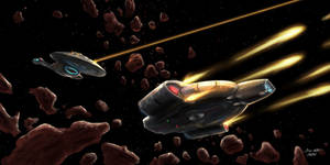 USS Voyager and USS Defiant - Attack Pattern Omega